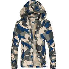 2016 marke Kleidung Freizeitjacke Mäntel Mit Kapuze Mäntel Camouflage Windjacke Tactical Dünnen Reißverschluss Outwear Wasserdichte Jacke
