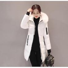 2019 New Winter Women Basic Jacket Hooded Thick Warm Medium long Down Cotton