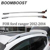 Cremalheiras do telhado do carro barra de rack de bagagem para f/ord r/raiva 2012-2014 acessórios do carro abs suporte de bagagem