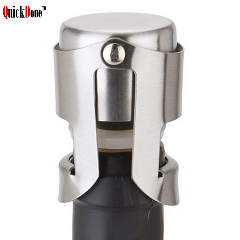 Stainless Steel Vacuum Sealed Champagne Wine Bottle Saver Stopper Cap US