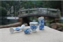 HOT SALE!dollhouse miniature.!!Ceramic antique gold pocket stroke floret bottle mini blue bottle fleshy basin