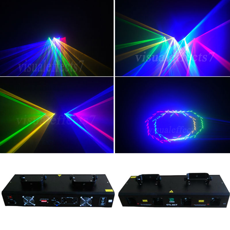 HOT SALE New stage light 50mW Green + 200mW Red laser + 250mW Yellow laser + 300mW Blue laser dj equipment for disco