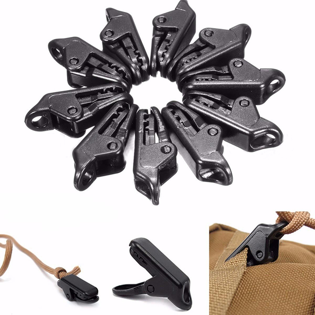 New 5 / 10 / 20 pcs Awning Tarp Clamp Tent Camping Clips Snap Hangers Outdoor Hiking Survival Tighten Tool