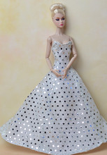 High quality Handmade Gifts For Girls Slim Evening Suit Wedding Dress Clothes For Barbie 1 6