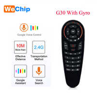 10pcs/lot G30 Voice Remote Control 2.4G Wireless Air Mouse Microphone Gyroscope 33 keys IR Learning for tv box HK1 H96 Max X96