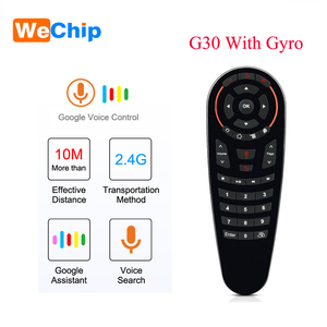 Image 1 - Wechip G30 Voice Afstandsbediening 2.4G Draadloze Air Mouse Microfoon Gyroscoop Ir Leren Voor Android Tv Box HK1 H96 max X96 Mini