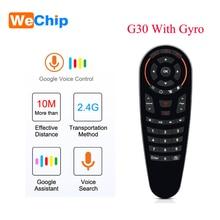 Wechip G30 Voice Remote Control 2.4G Wireless Air Mouse microfono giroscopio IR Learning per Android tv box HK1 H96 Max X96 mini