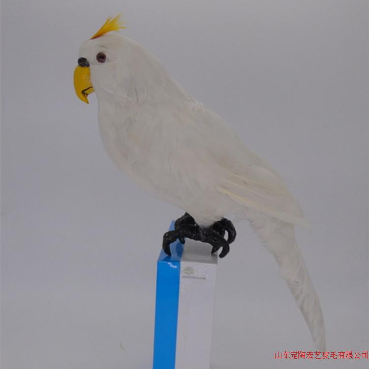 white simulation big parrot toy polyethylene & furs lovely parrot model gift about 22*12*45CM 233