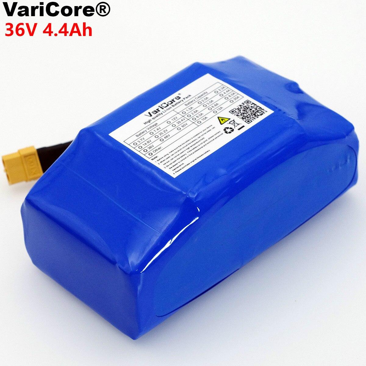 VariCore 36 v 4.4Ah 4400 mah alta drenagem 2 roda scooter elétrico auto balanceamento de 18650 bateria de lítio para Auto -equilíbrio Se Encaixa