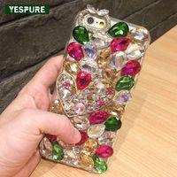 Yespure الحب قلوب تصميم diy كابا قضية لفون 7 8 سيدة نمط كامل الماس الغلاف الخلفي حالات كابا كوكه