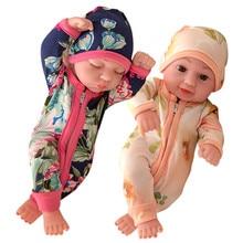 Reborn Doll Fit 10 Mini 26cm Girl Boy Full Silicone Vinyl Cute Twins Dolls Lifelike Reborns for Toddler Bathing