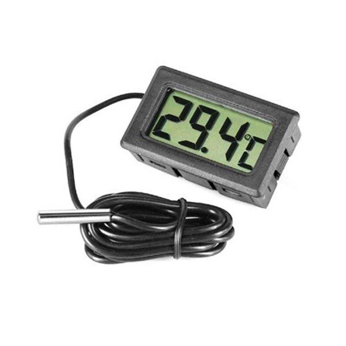 1pcs Mini LCD Digital Thermometer for Fridges Freezers Coolers Aquarium Chillers Mini 1M Probe Black