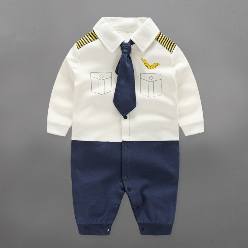2017 Baby   Rompers   Spring Baby Boy Clothes Cotton Newborn Baby Clothes Autumn Baby Clothing Sets Roupas Bebe Infant Jumpsuits