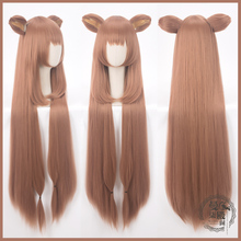 Anime The Rising of the Shield Hero Cosplay Wig Raphtalia Long Tate no Yuusha Nariagari Rafutaria Hair with ear