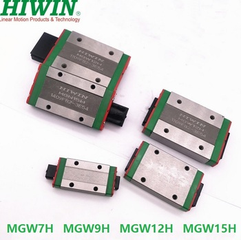 4pcs/lot 100% original new Hiwin MGW7H MGW9H MGW12H MGW15H linear blocks for mini cnc parts rail guide MGW7/9/12/15