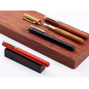 Image 3 - Moonman M3 High end Handmade Holz Brunnen Stift Gold Clip Iridium Nib Gutes Schreiben Farbwerk Stifte mit Stift Box die Beste Geschenk Wahl