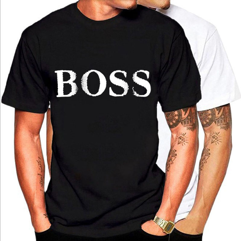 Fashion Summer T-shirts With Round Collars And Short Sleeves In Europe And The United States BOSS Printed T-shirts Men's Trend(China)