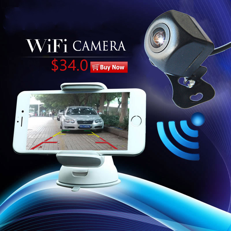US $31 2 35% OFF|APP WIFI car camera wireless video car rear view backup  Camera Dash Cam HD Night Vision Reversing Camera for Android IOS Device-in