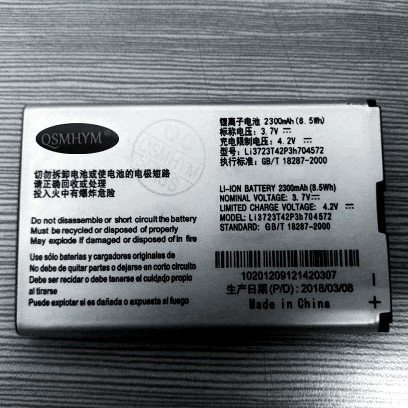 Original Li3723T42P3h704572 3.7V 2300mAh 8.5Wh Li-ion <font><b>Battery</b></font> For <font><b>ZTE</b></font> MF91 <font><b>MF90</b></font> CellPhone New With Tracking Number image