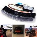 Wireless Motorcycle Helmet Brake Light 12V Motorbike Automotive Multi-Color 8 LED Lights Turn Signal Warning Flasher Lamp