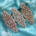 (1 PIECE) Hand beaded sewing rose gold silver bridal wedding crystal glass rhinestone applique for wedding dresses belt WDD0230
