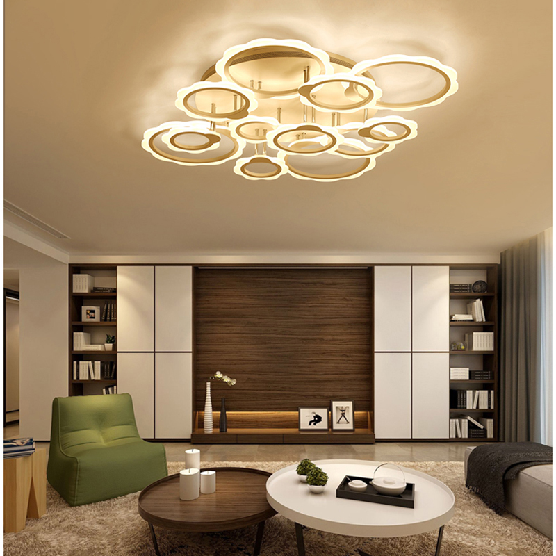 NEW lustre de plafond LED Pendant Chandeliers Modern luminaire plafonnier Living room Bedroom Dimmer Chandeliers free shipping noosion modern led ceiling lamp for bedroom room black and white color with crystal plafon techo iluminacion lustre de plafond