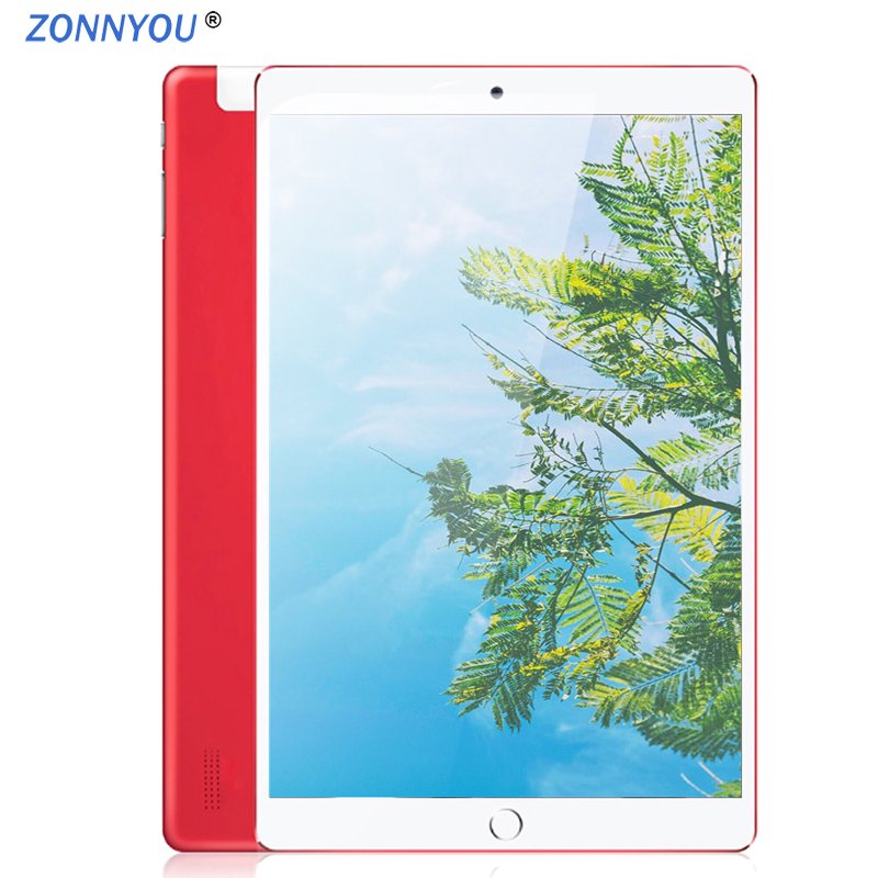 New System 10.1 inch PC Tablet Android 8.0 3G Phone Call Wi Fi Bluetooth 4GB/32GB Octa Core Dual SIM Support GPS PC +Cover