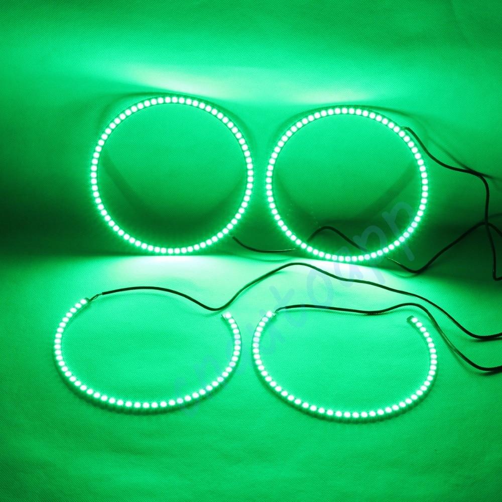 Ochi de înger RGB LED-uri multicolore, semaforizant, lumină de - Faruri auto - Fotografie 4