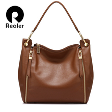 REALER luxury handbag women bag fashion large shoulder bags