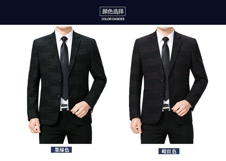 WAEOLSA Men Fashion Blazers Dark Green Red Jackets Suits Man Slim Fit Blazer Male Elegant Outfits Office Garment Print Blaser For Man (2)