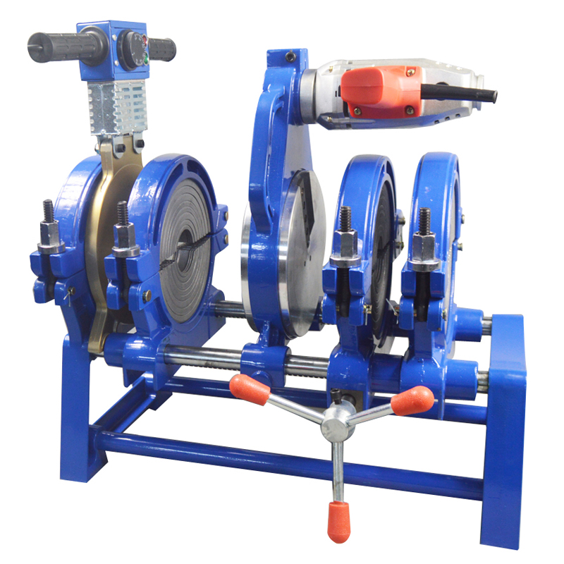 Livraison gratuite 3 ans de garantie AC220V 4 pinces 63-200mm Fusion bout à bout Machine de soudage pour tube en plastique PE PP PB PVDF HDPE tuyau en PVC