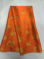 5 Y/pc Fashionable real gold silk lace embroidery african smooth and soft copper velvet lace fabric for dress JS2 1