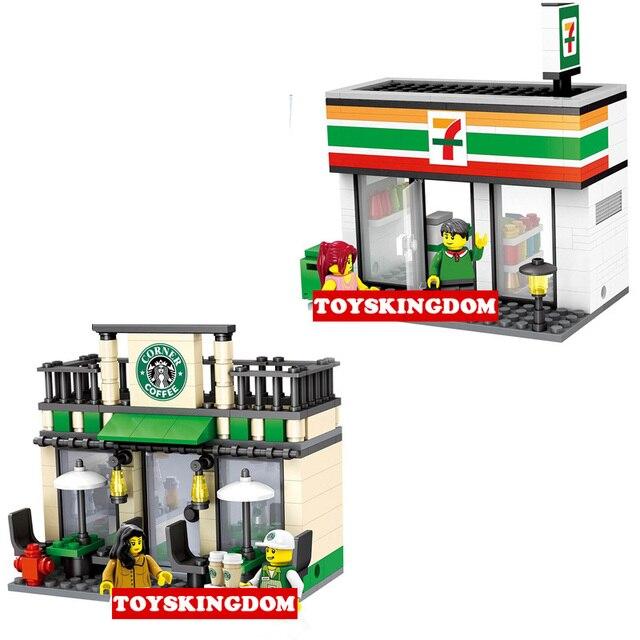 Aliexpress.com : Buy City mini street view Starbucks Coffee shop 7 ...