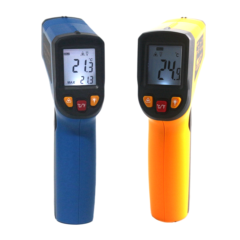IR Infrared Thermometer C/F Surface Pyrometer LCD Non-Contact Digital Red Laser Temperature Meter 50 600c 50 400c handheld non contact ir infrared thermometer digital lcd laser pyrometer temperature meter with backlight
