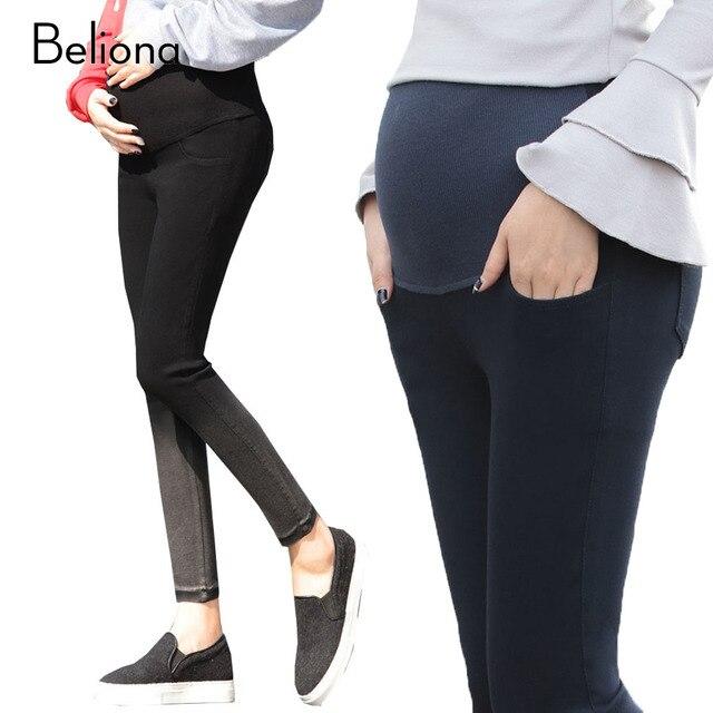 3e7df54141e96 Gradient Color Spring Stretch Capri Pants High-waisted Maternity Clothes  for Pregnant Women Plus Size Pregnancy Trousers M-XXL