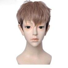 Атака на Титанов Жан кирштеин кирштайн парики коричневый смешанный цвет термостойкие синтетические волосы косплей парик + парик шапка