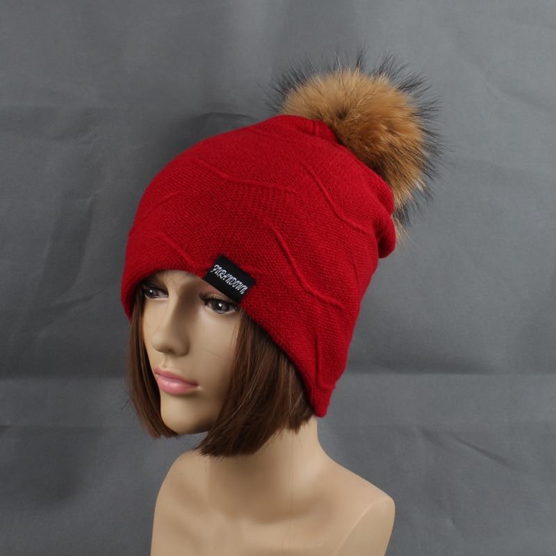 2019 Womens Topi Bulu Hangat Di Dalam Topi Beanie Gadis Musim Dingin - Aksesori pakaian - Foto 2