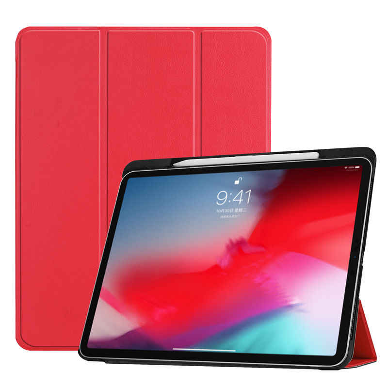"Case untuk iPad Pro 11 ""(2018) smart Tablet Cover dengan Pensil Pemegang Funda For New iPad Pro 11 Inch 2018 Ultra Stand Cover Case"