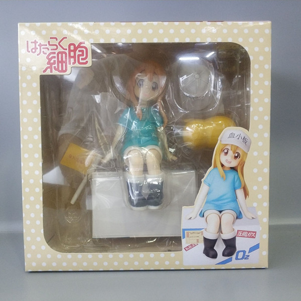 14cm Anime Nendoroid Hataraku Saibou Platelet Kesshoban Cells At Work PVC Action Figure Collectible Model Toy Gift 17