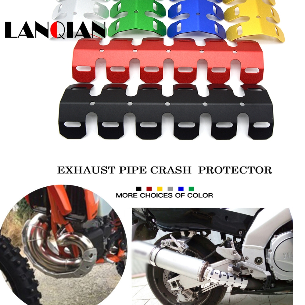 Motorcycle Accessories & Parts Open-Minded For Suzuki Dr Drz Rmx Djebel 400e 400s 400sm 450z 650se Montorcycle Exhaust Muffler Pipe Leg Protector Heat Shield Cover Pure Whiteness Automobiles & Motorcycles