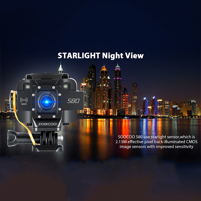Outdoor Sport Action Camera UHD 1080P Waterproof Mini Video Build-in WIFI DV Camcorder Starlight Night Vision With External Mic amk7000s camera 1080p hd action digital camera 2 0 lcd 4k wifi sport dv video photo camera 20mp waterproof 40m mini camcorder