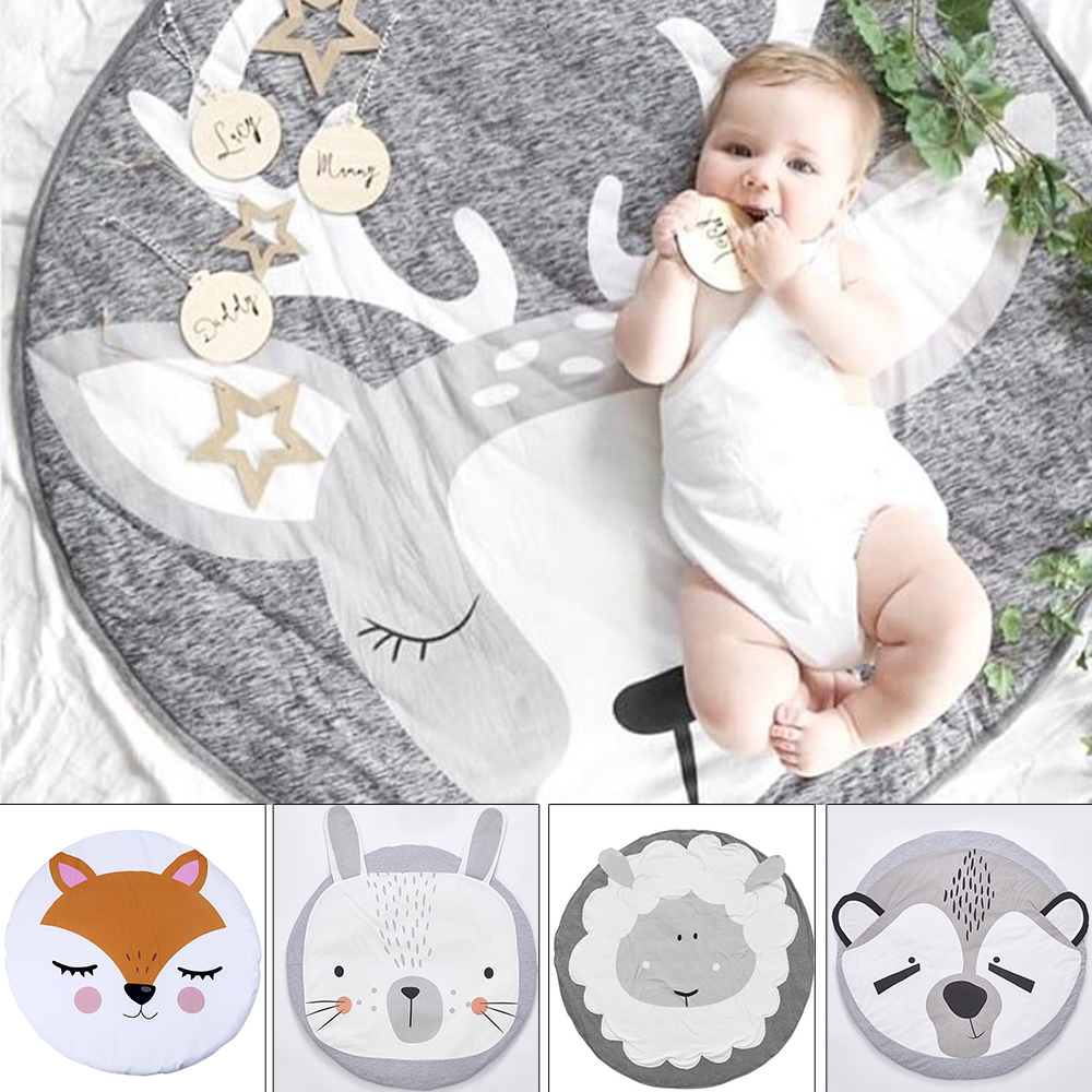Activity & Gear Mother & Kids New Fashion Kidlove Cute Baby Infant Crawling Activity Pad Round Kids Crawling Carpet Rabbit Blanket Cotton Game Pad Children Room Decor