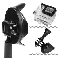 Underwater Dome Port for GoPro Hero 7 6 5 Black with Float Grip Waterproof Case Sunshade Lens Dome Go Pro 6 5 7 Accessory