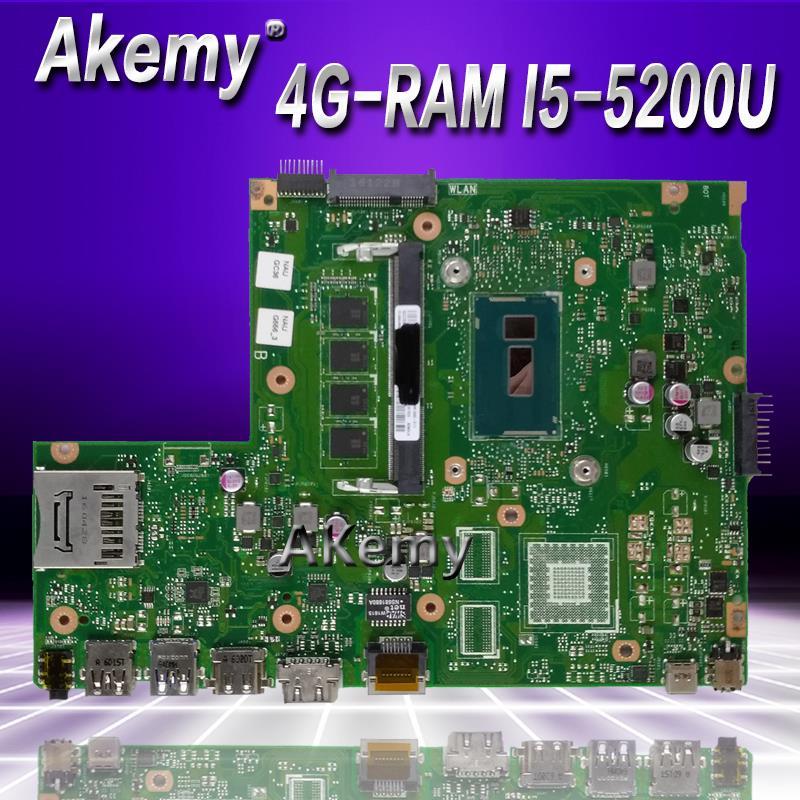 Akemy X540LA Laptop motherboard for ASUS X540LJ X540L F540L X540 Test original mainboard 4G RAM I5