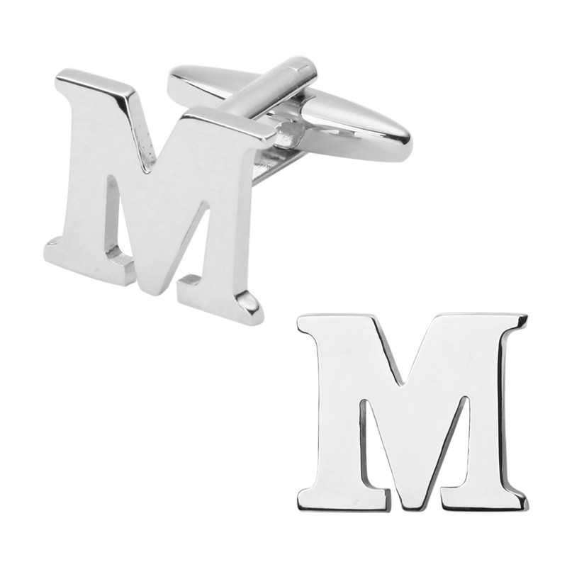 New Style Letter M Cufflinks for Mens Wedding Cufflinks Simple Shirt Cufflinks Male French high Cuff Links Suits Accessories