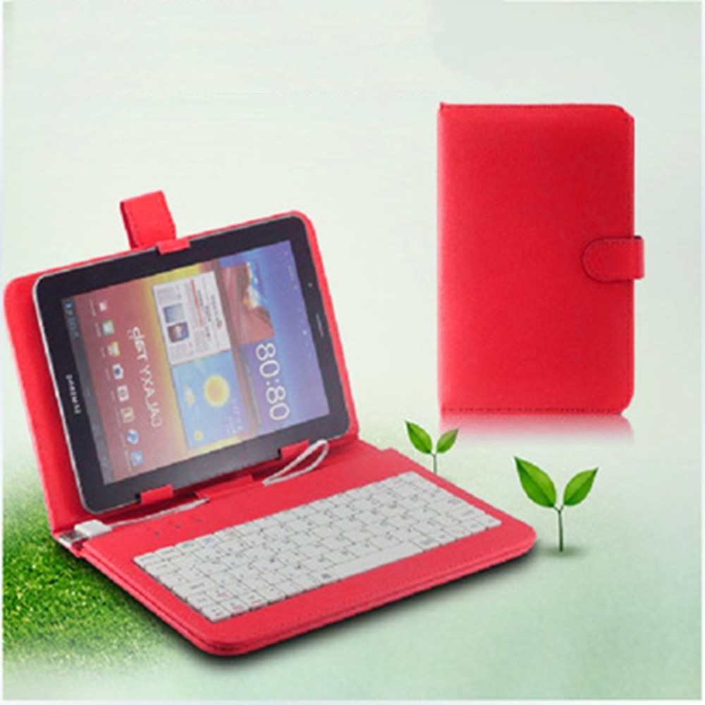 7 Inch Imitation Leather Case Cover USB Keyboard for Android Windows Tablet