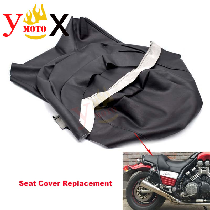 Replacement Thick Black PU Leather Motorcycle Seat Cover Cushion Guard Waterproof For Yamaha VMAX VMAX1200 V-MAX1200 VMAX1200(China)