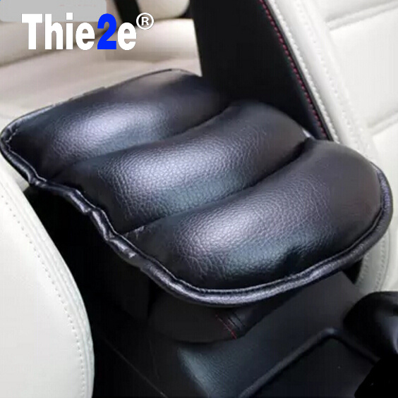 Car-styling PU Leather Car Armrests Cover Pad Mats For Ford EDGE Explorer EXPEDITION EVOS START C-MAX S-MAX B-MAX