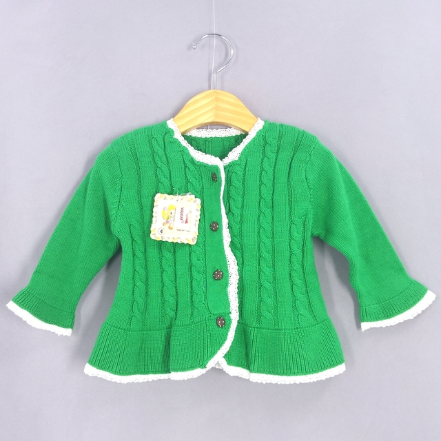 45be1ce04 1 2Years Baby Girls Sweater Cardigans 100% Cotton Spring Autumn Long ...