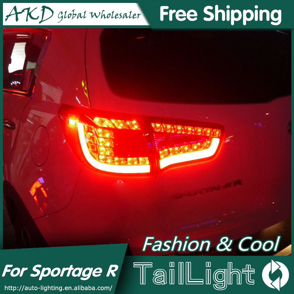 AKD Car Styling for Kia SportageR Tail Lights 2011-2014 Sportage R LED Tail Light LED Rear Lamp DRL+Brake+Park+Signal for kia sportage r led tail lamp